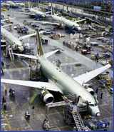 Production line at Boeing